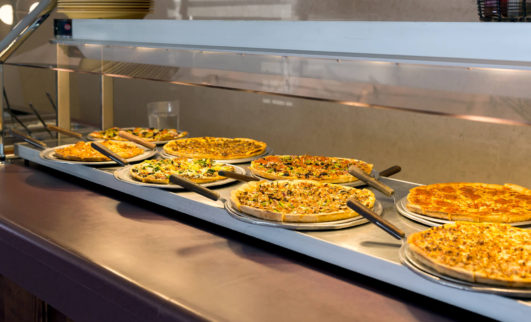 Pizzas at Sunday Brunch Buffet
