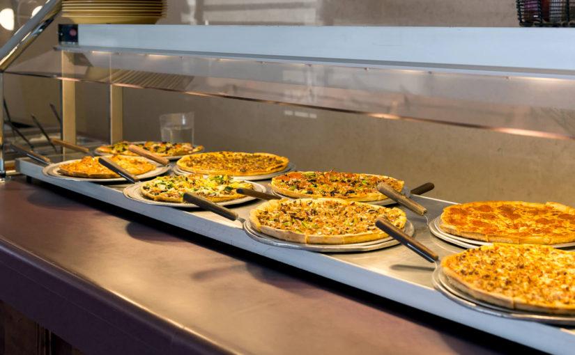 Pizzas at Sunday Brunch Buffet